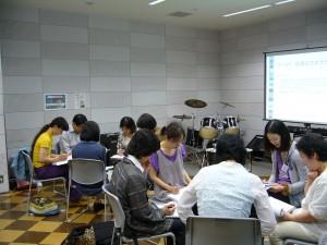 音楽療法概論2日目:ディスカッションの様子