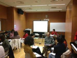 音楽療法セラピスト養成講座「音楽療法概論」2日目のワーク2